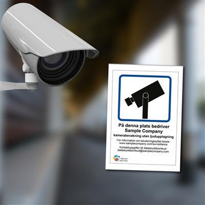 GDPR Custom Camera Surveillance Signs and Stickers